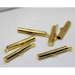 DQ metaal schuif eindkap Goud 25.5mm