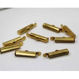 DQ metaal schuif eindkap Goud 15.5mm