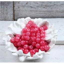 Glaskraal Roze Fuchsia 6mm