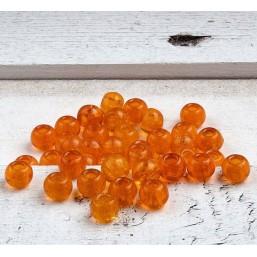 Glaskraal Oranje met groot gat GL101 Glaskraal groot gat