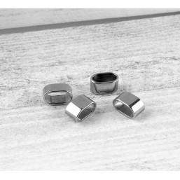 RVS Leerschuif (12.6x7.7mm)ME50 RVS (Roestvrij Staal)