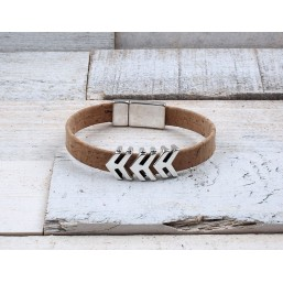 Heren armband Kurk  Arrow