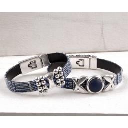 Armband met Linnen op Leer Dames armbanden