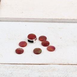 Polaris cabochon Perseo Rumba Red 7mm platCA171 Cabochons 7mm plat