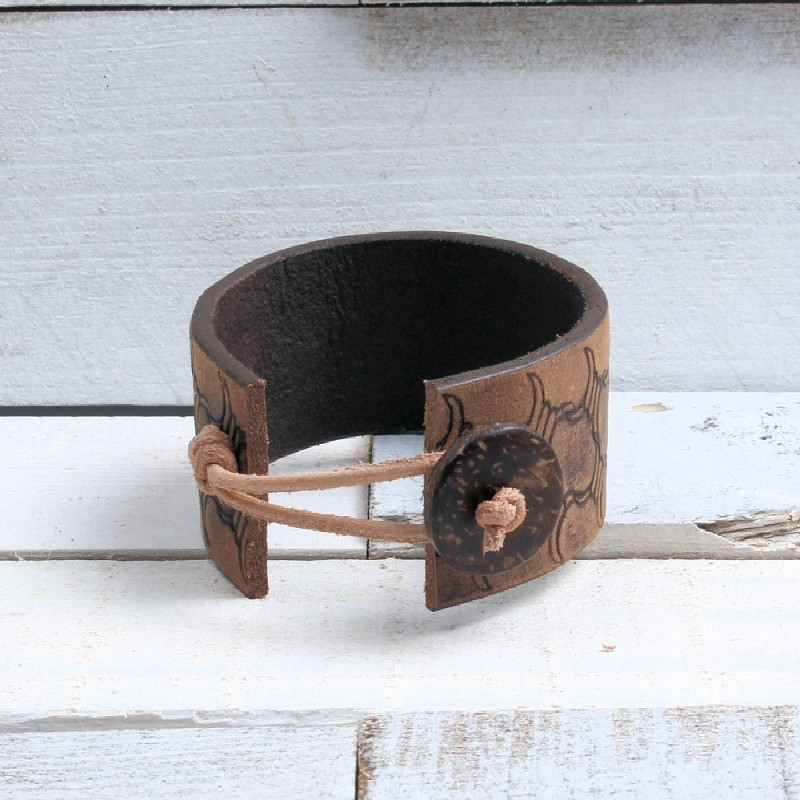Vintage armband Bruin/Donkerbruin AB17 Home