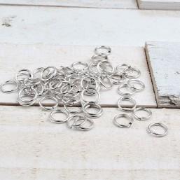 DQ metaal ring 10mm Antiek Zilver (per stuk)DQ42 Ringetjes