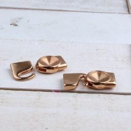 DQ metaal setting/haak sluiting voor Rivoli puntsteen Rosé Gold