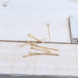 Kettelstift goudkleur (10st) BE44 Niet en Kettelstiften