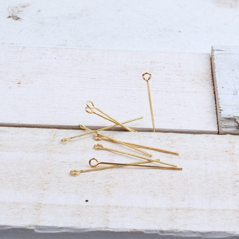 Kettelstift goudkleur (10st)BE44 Niet en Kettelstiften