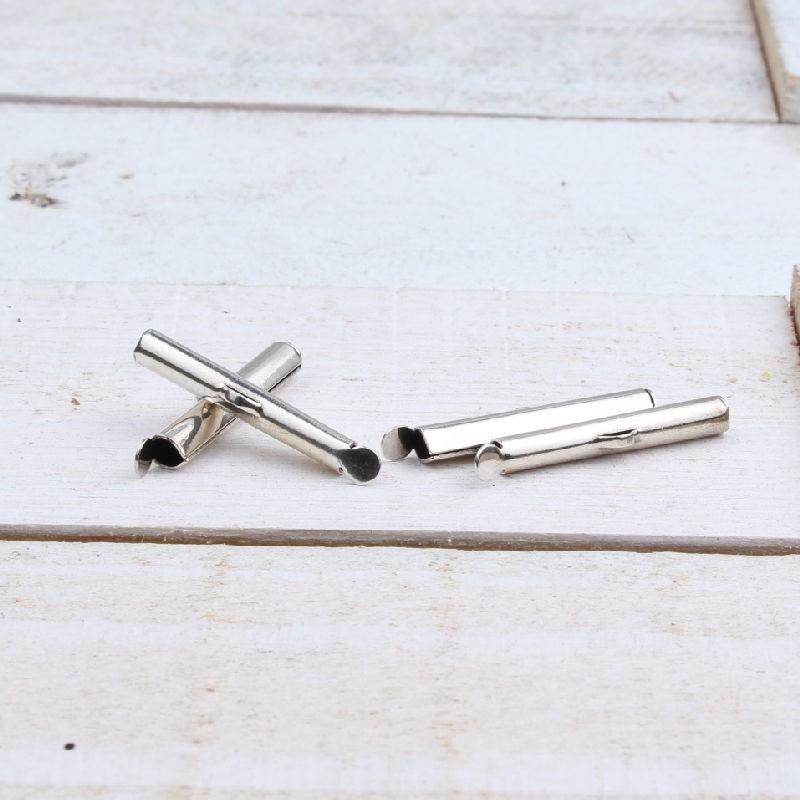 DQ metaal schuif eindkap Antiek zilver 25.5mm