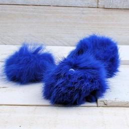 Pluizenbol kobaltblauw ca.60mmPLB22 Pluizenbol