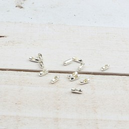 DQ Ballchain sluiting 2mm zilverkleurBE15 Ballchain sluitingen