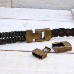 Magneetsluiting Brons (15x3.5mm)ME740 Plat