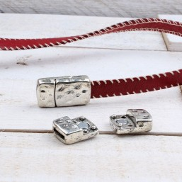 Magneetsluiting gehamerd (10x2mm)ME67 Plat