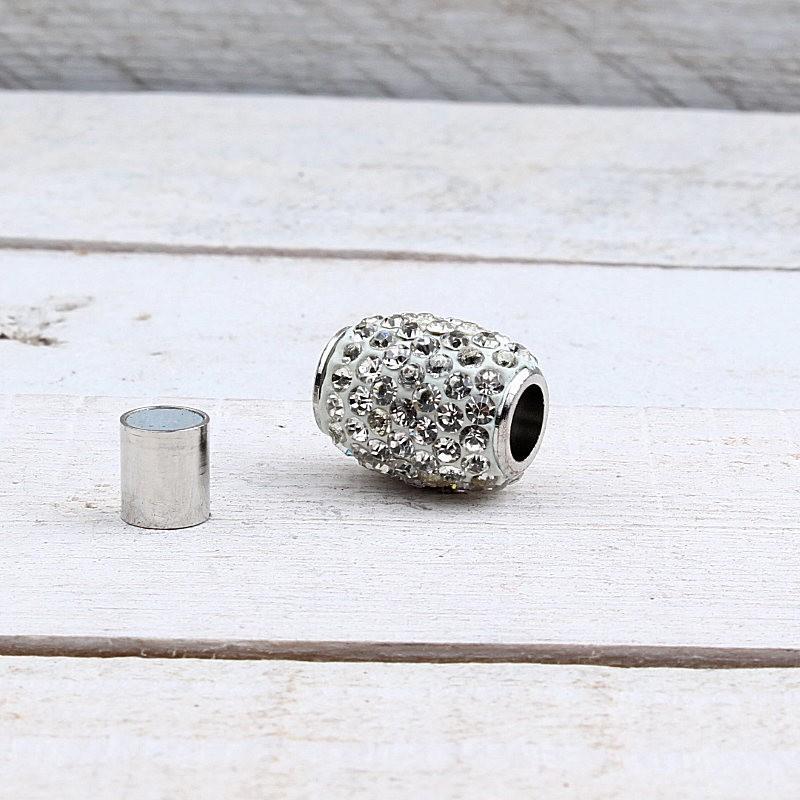 Magneetsluiting Shamballa Crystal (6mm) ME731