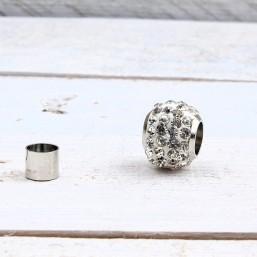 Magneetsluiting Shamballa crystal 6.0mm ME727