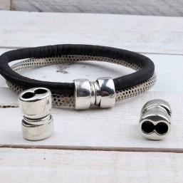 Magneetsluiting voor 2x4mm rond leer ME708