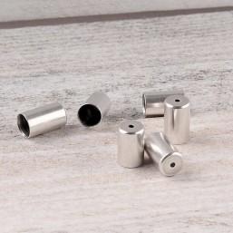 DQ metaal eindkap 5mmDQ91 Rond Zilver