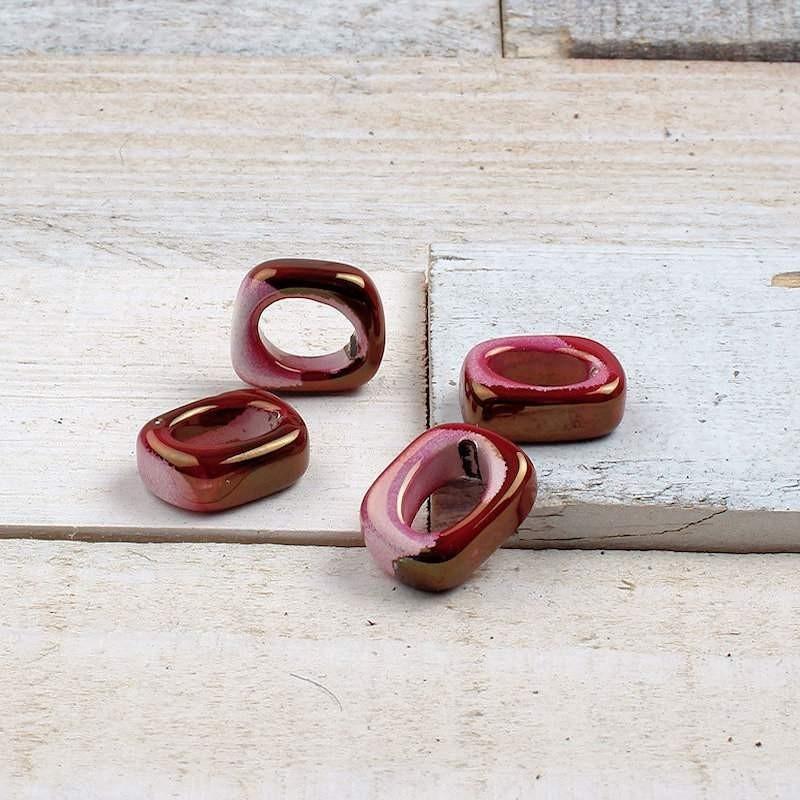 DQ Grieks keramiek ring CherryDGK13 Keramiek Ring/Ovaal