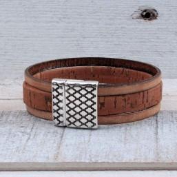 Heren armband Kurk met magneetslot Heren armbanden