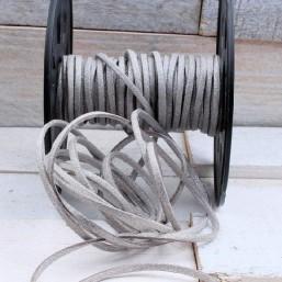 Suede veter zilver SV52 Suede Uni kleuren