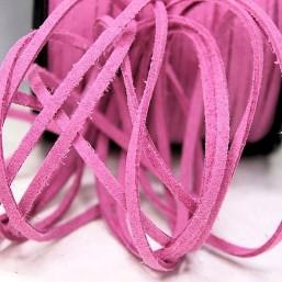 Suede veter lila roze SV23 Suede Uni kleuren