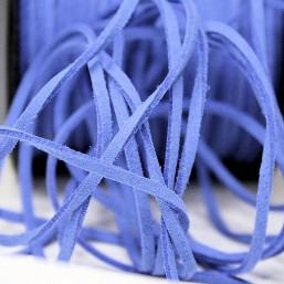 Suede veter blauw SV22 Suede Uni kleuren