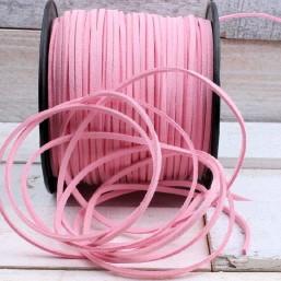 Suede veter licht roze SV01 Suede Uni kleuren