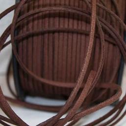 Suede veter donkerbruin SV10 Suede Uni kleuren