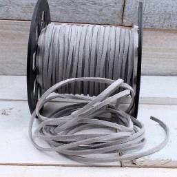 Suede veter zilvergrijs SV11 Suede Uni kleuren