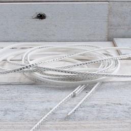 Suede veter wit met crystal SV63