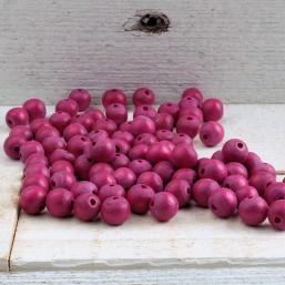 Nature kraal Purple Pink 8mm HOU356 Houten kralen
