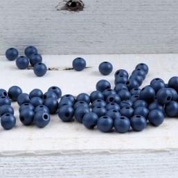 Monaco Blue houten kraal 8mm HOU409 Houten kralen