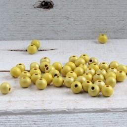 Ibiza kraal Lemon Geel 8mm HOU405 Houten kralen