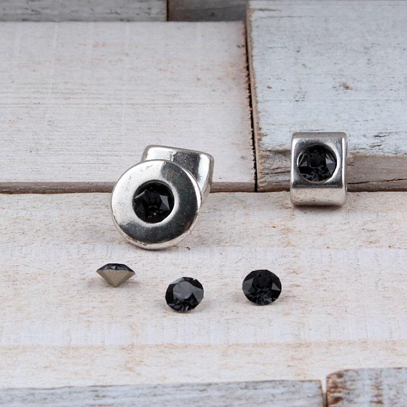 Swarovski SS24 puntsteen (5.2mm) Graphite grey SW28