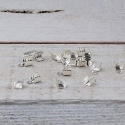 DQ metaal Veterklem 3mmDQ494a Veter-Lintklemmen