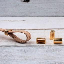 DQ metaal Lusmaker Goud 8x13mmDQ877 Goud en Brons