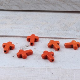 Kruisje keramiek Oranje KE17 Keramiek en Porselein