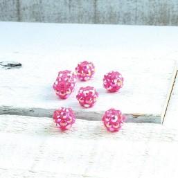 Shamballa Pink 8mm SH10 Kunststof kralen