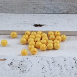 Kunststof kraal Geel 8mm KS12 Kunststof kralen