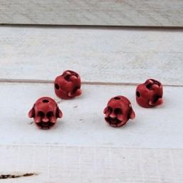 Kraal Buddha Rood 12mm KS15 Kunststof kralen