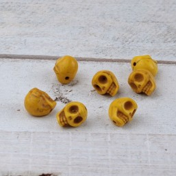 Skull kraal Geel 10mm NA46 Natuurkralen