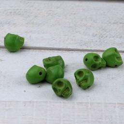 Skull kraal Groen 10mm NA50 Natuurkralen
