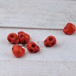 Skull Oranje 10mm NA45 Natuurkralen