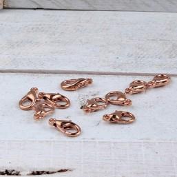 DQ metaal Lobster sluiting (15mm) Rosé GoudDQR36 40% Korting! DQ metaal Rosé Gold/Goud