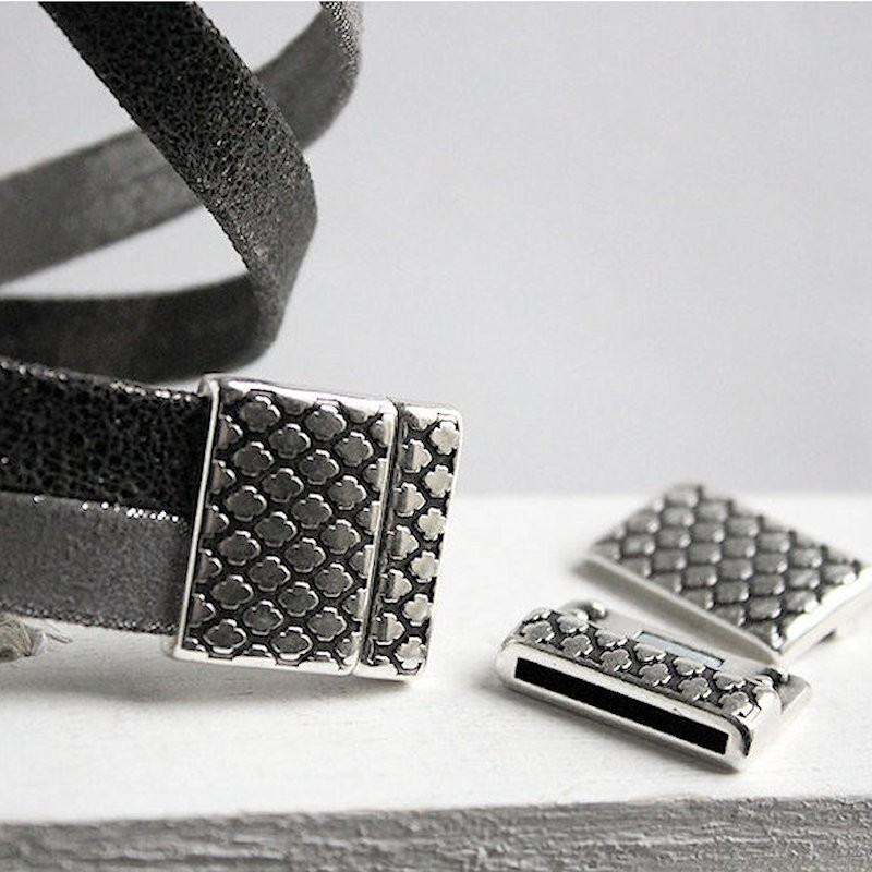 DQ metaal magneetsluiting Boho style (25x24mm)DQ80 Magneetsluitingen