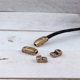 DQ metaal magneetsluiting Brons (5.1x2.2mm) DQ43 DQ Magneetsluitingen