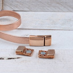 DQ metaal magneetsluiting Rosé Gold (28x13mm)DQR74A 40% Korting! DQ metaal Rosé Gold/Goud