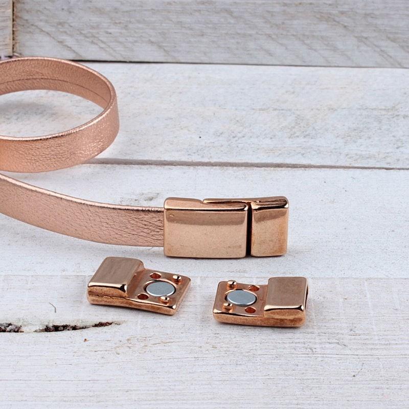 DQ metaal magneetsluiting Rosé Gold (10x2.2mm) DQR74A