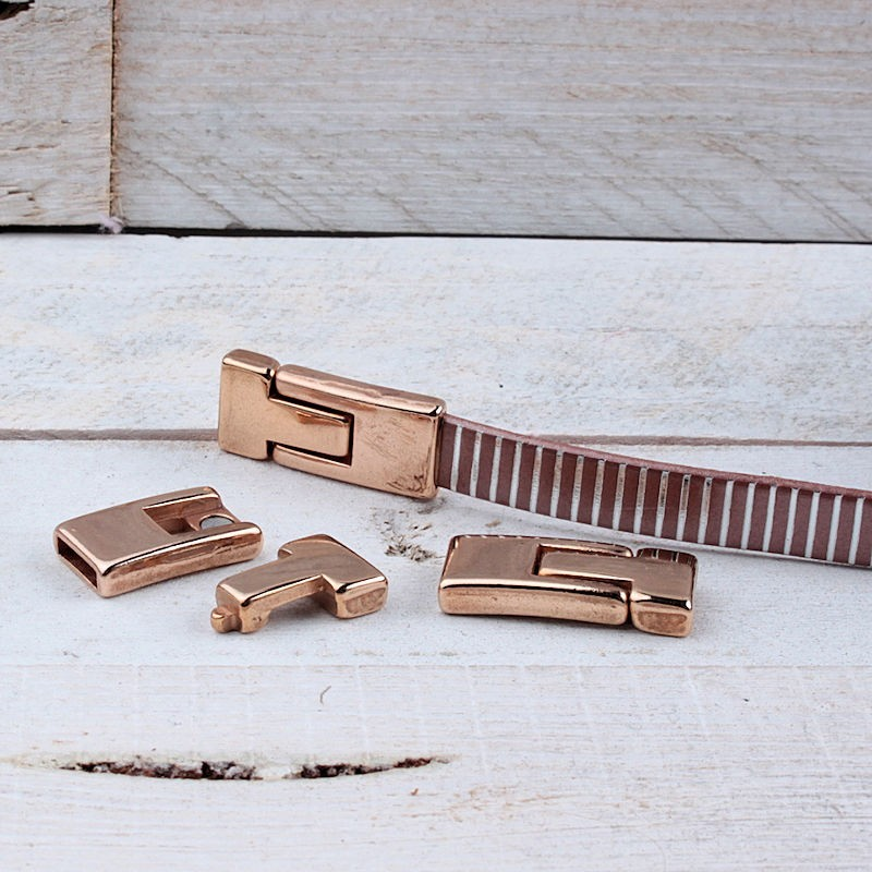 DQ metaal magneetsluiting Rosé Gold (30x13mm)DQR76A 40% Korting! DQ metaal Rosé Gold/Goud